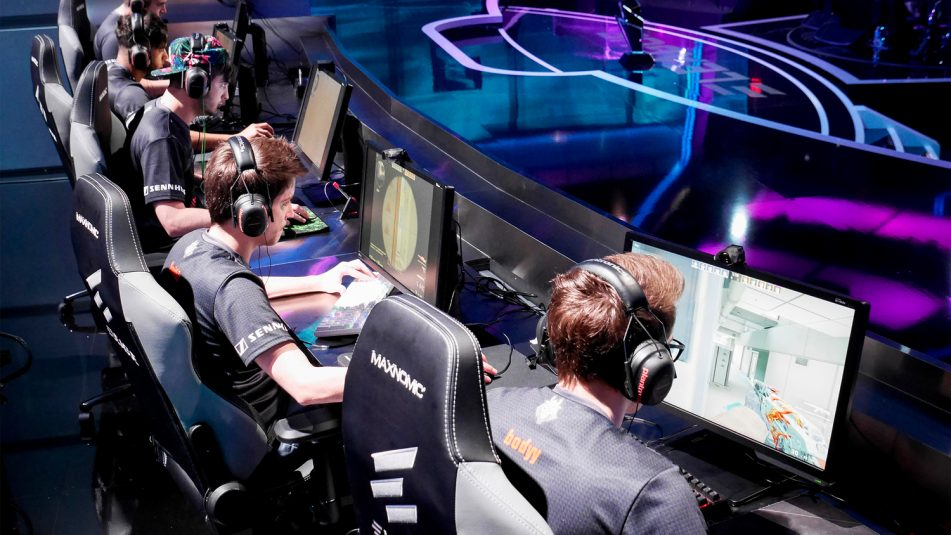 Two teams of five players compete in Counter-Strike: Global Offensive.