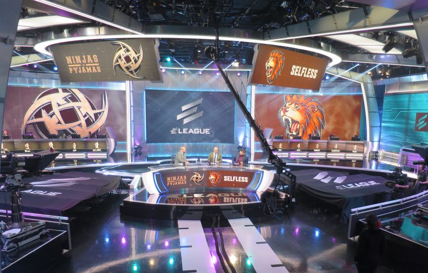 Featuring 25,000 sq. ft. of LED lighting, the new ELeague facility is both television studio and gaming arena.