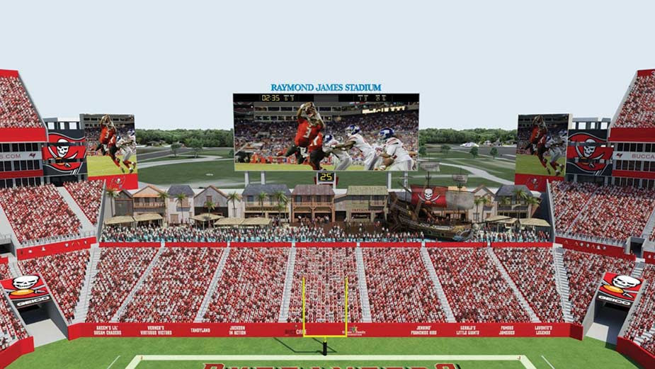 Tampa Bay Buccaneers Add New Videoboard To Raymond James Stadium