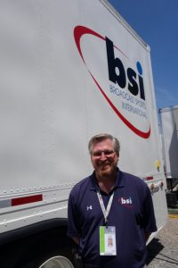 Bob Weeks oversees the RF operations for BSI at the U.S. Open.