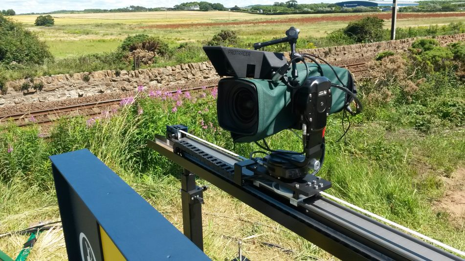 One of the railcams that ACS created specifically for the Open Championship