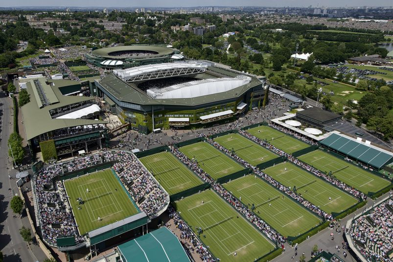 General view of the grounds of The Championships Wimbledon 2013 with Centre Court The Championships Wimbledon 2013 The All England Lawn Tennis & Croquet Club Wimbledon Day 2 Tuesday 25/06/2013 Credit: Matthias Hangst / AELTC