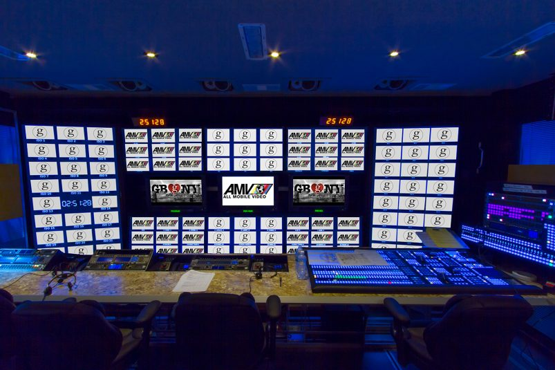 Control room and monitor wall in All Mobile Video Zurich