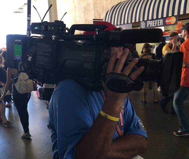 One of a dozen RF cameras deployed by CP Communications at MLB All-Star
