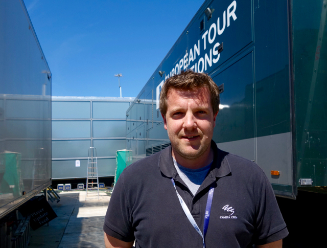 David Whitlock oversees ACS operations at the Open Championship.