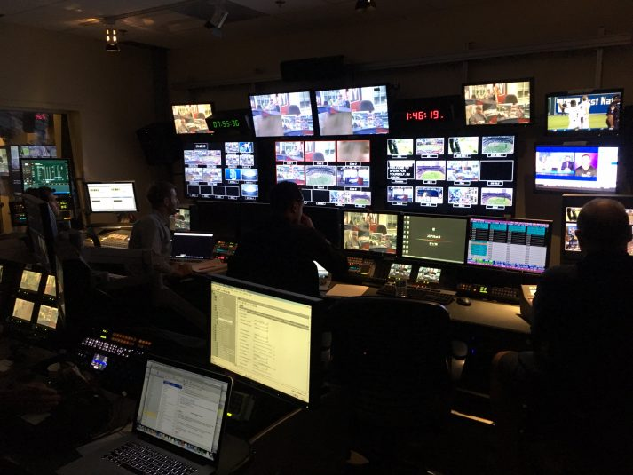 With Fox Sports San Diego's control room (shown here) being utilized by Fox Sports 1, the RSN turned to SDTV to provide its mobile production facilities.