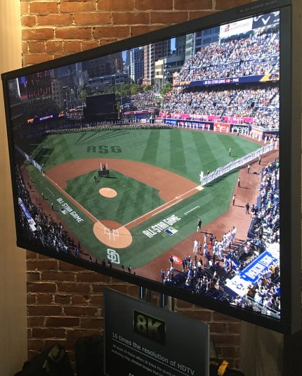The 8K/UHD demo at MLBAM's suite at Petco Park