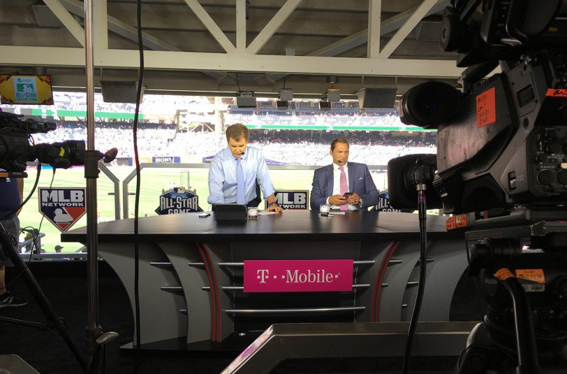 MLB Network's secondary set is located in the concourse at Petco Park.