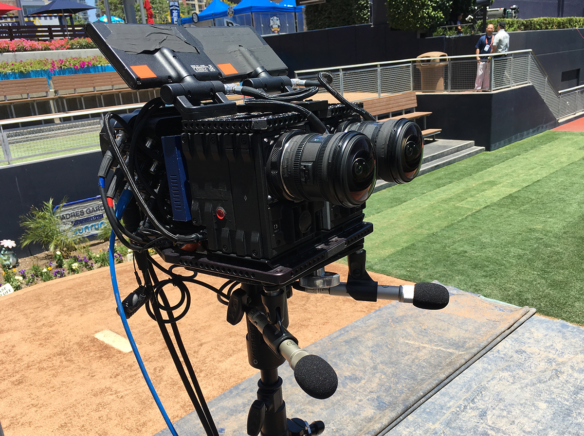 One of seven VR rigs deployed by NextVR for the Home Run Derby