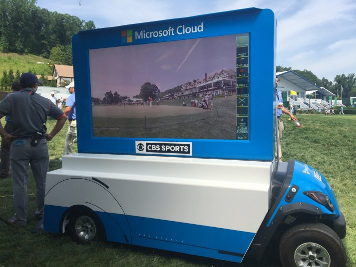 The Smartcart — a large, mobile touchscreen used for analysis on the course — is making its PGA Championship debut.
