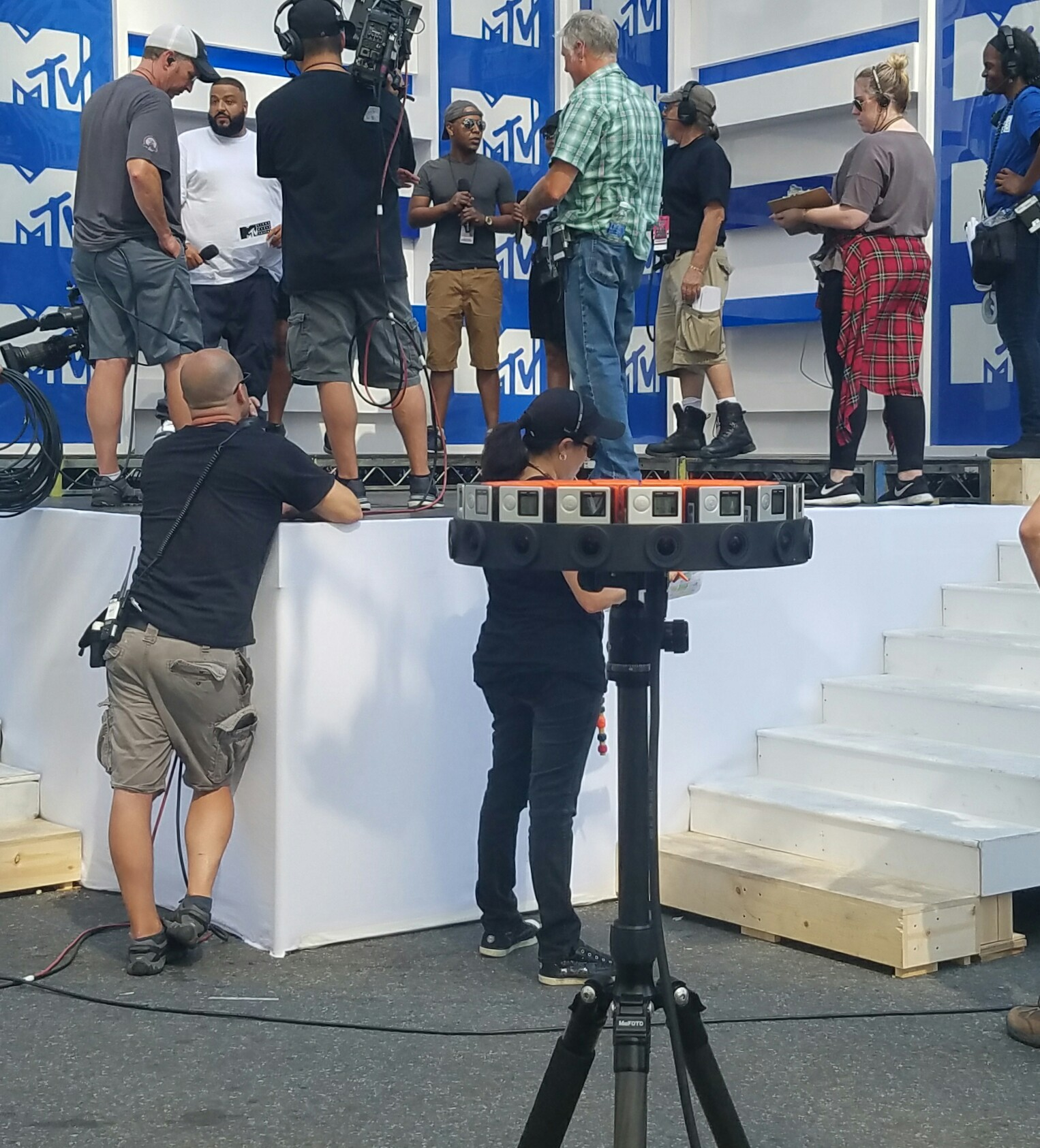 MTV experimented with the GoPro Odyssey VR rig at the VMA's.