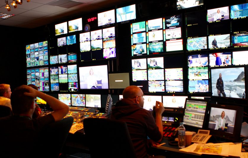 One of the two BBC Sport control rooms at the Rio Olympics.