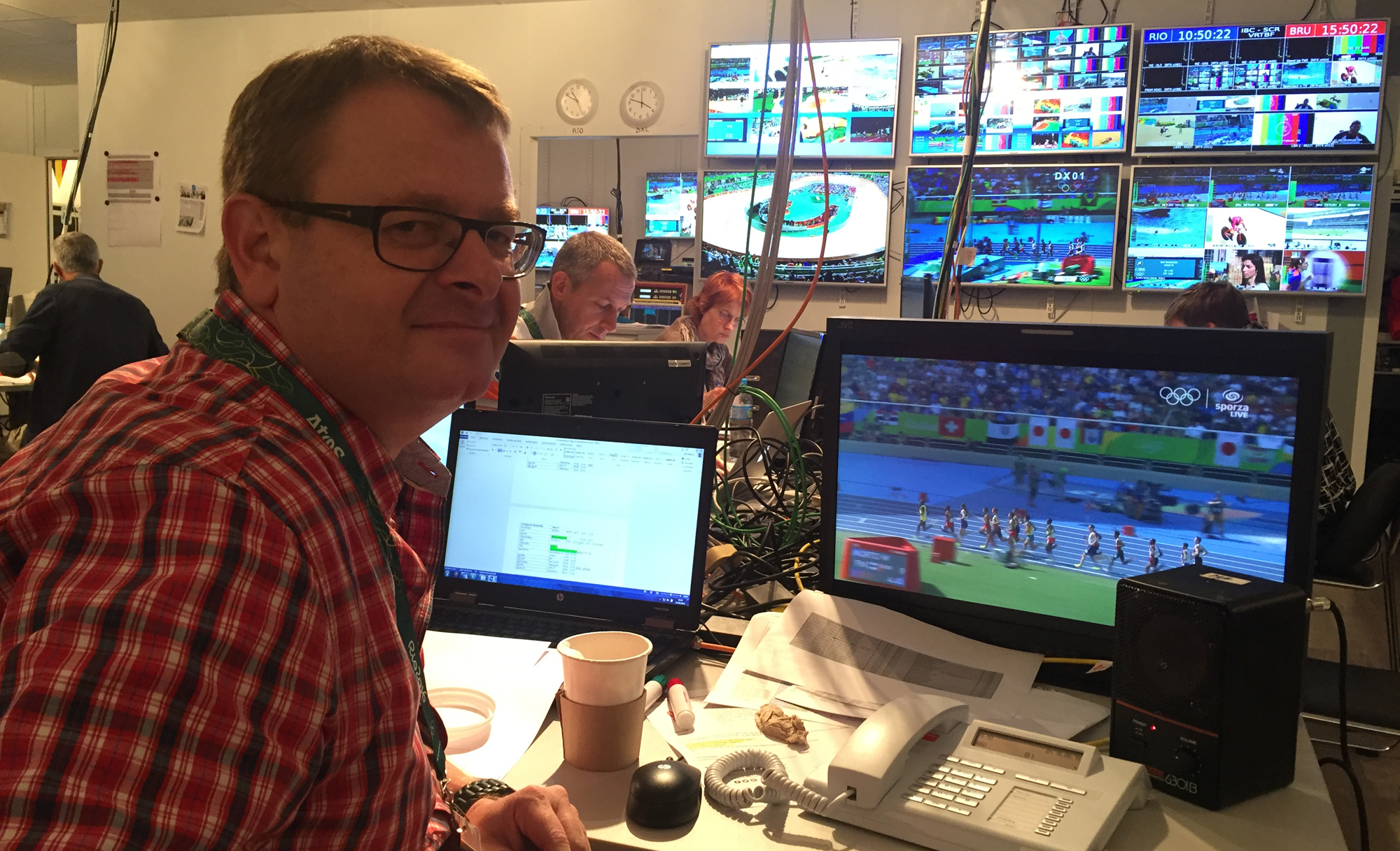 Lead producer Jo Deferme oversees the Olympic production of Belgian broadcaster VRT at the IBC in Rio.
