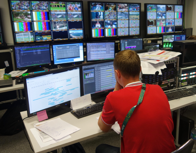Russia's Match TV brought over 21 tons of equipment and 130 people for the Olympics production.