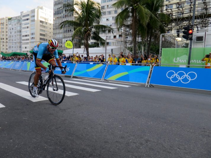 Coverage of the Olympic men's cycling road race relied heavily on RF cameras.