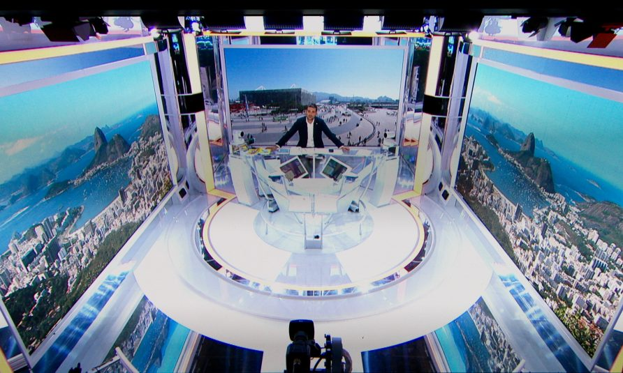 France Télévisions studio in Olympic Park had to be changed to deal with issues related to too much sunlight.