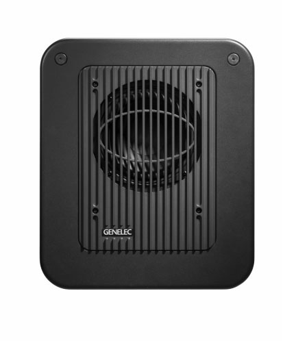 Genelec's ultra-compact 7040A subwoofer measures 16.1 x 13.8 x 8.1 in.
