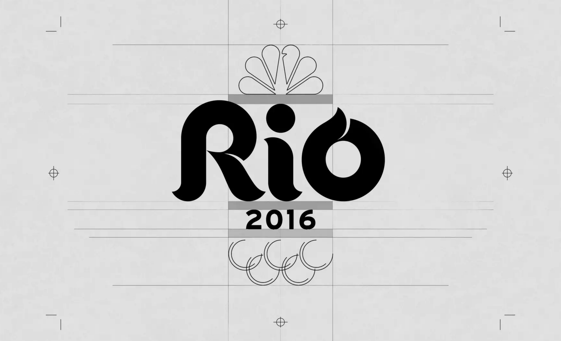 Graphic design firm Trollbäck + Company designed the primary NBC Rio Olympics logo.