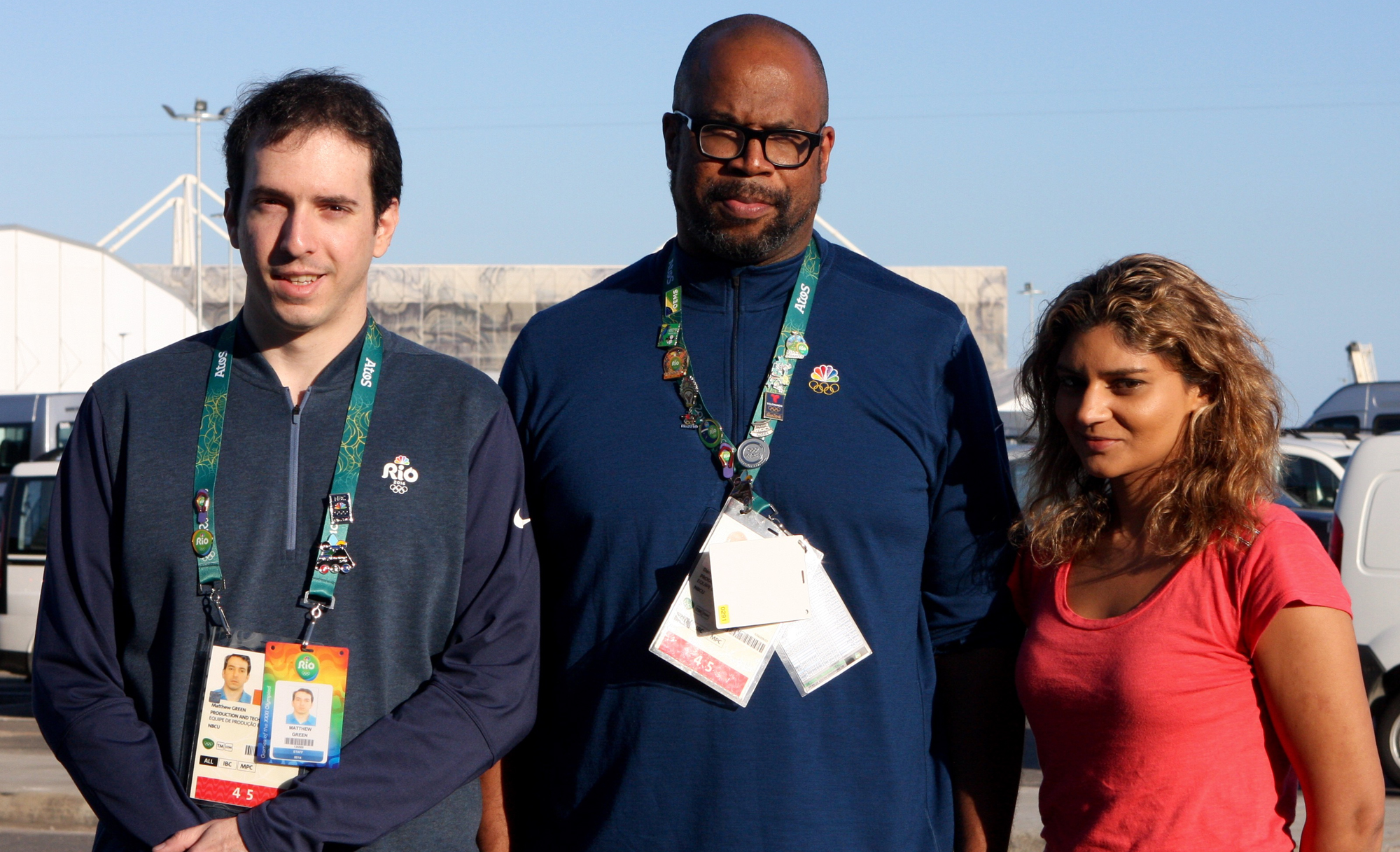From left: Senior Digital Media Manager Matthew Green, VP, Post Operations & Digital Workflow Darryl Jefferson, Engineer, Digital Workflows Kamal Bhangle have played key roles in NBC Olympics' content management infrastructure for these Rio Games.