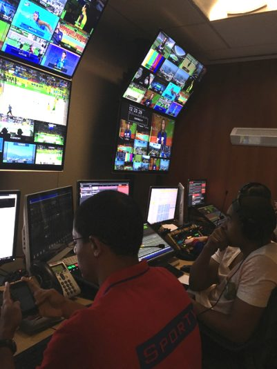One of 20 control rooms at Globosat that relied on Vizrt Opus for Olympic production.