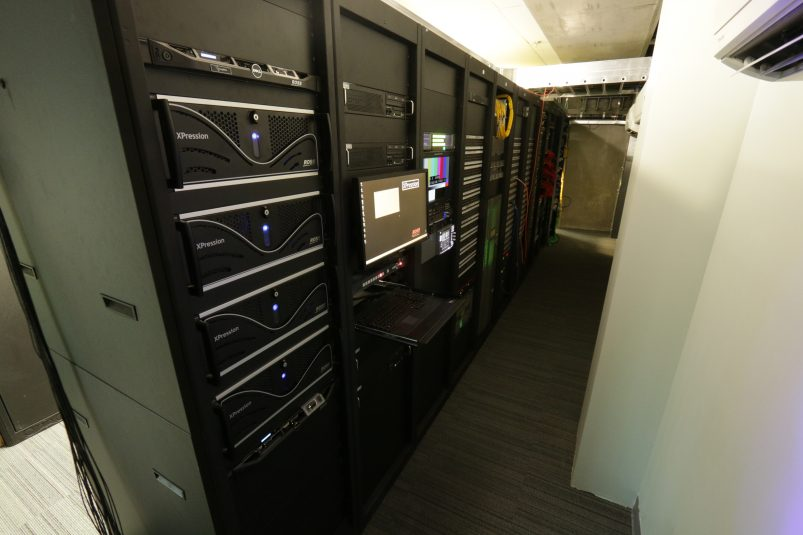 The Vikings and Alpha Video added a separate, enclosed rack room.