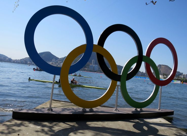 The Olympic rings are a ubiquitous site at the various Olympic venues in Rio.