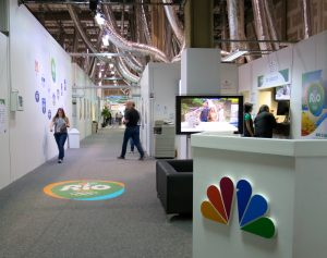 The NBC Olympics area in the Rio IBC covers more than 73,000 square feet.