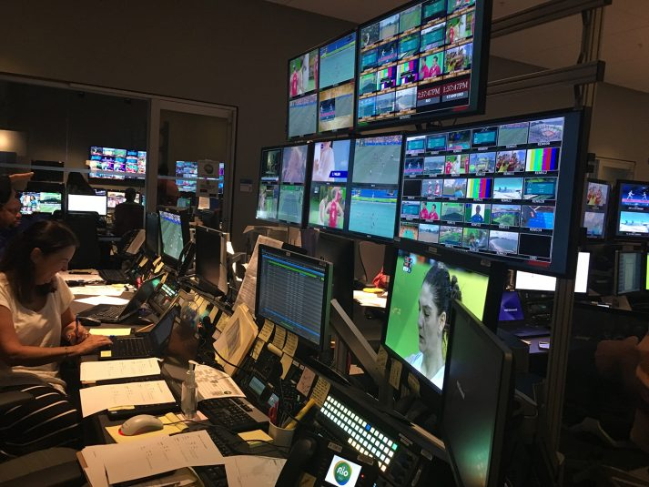 Inside PCR8, the Gold Zone control room