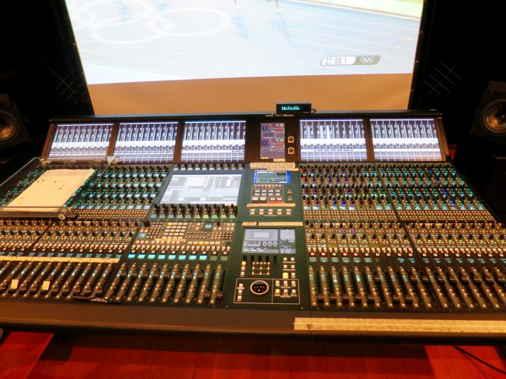 A Tamura 900 audio console is in one of NHK's two 8K audio trucks.