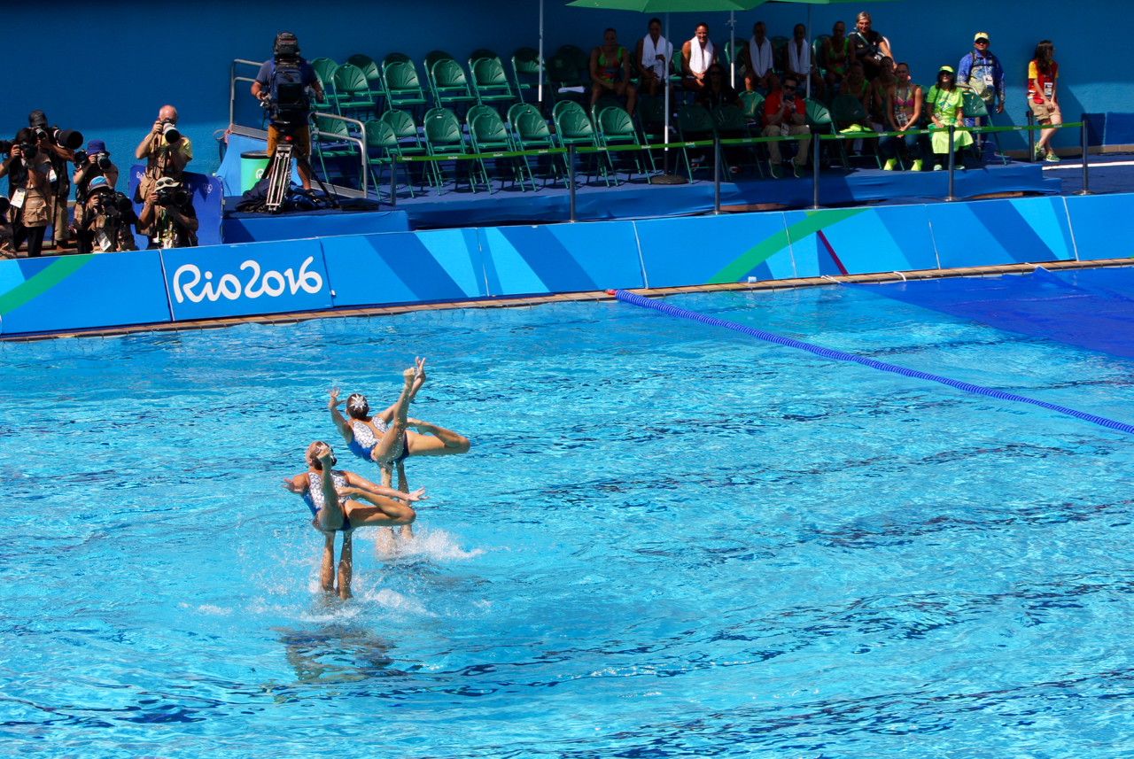 Hard cameras capture the action above the water