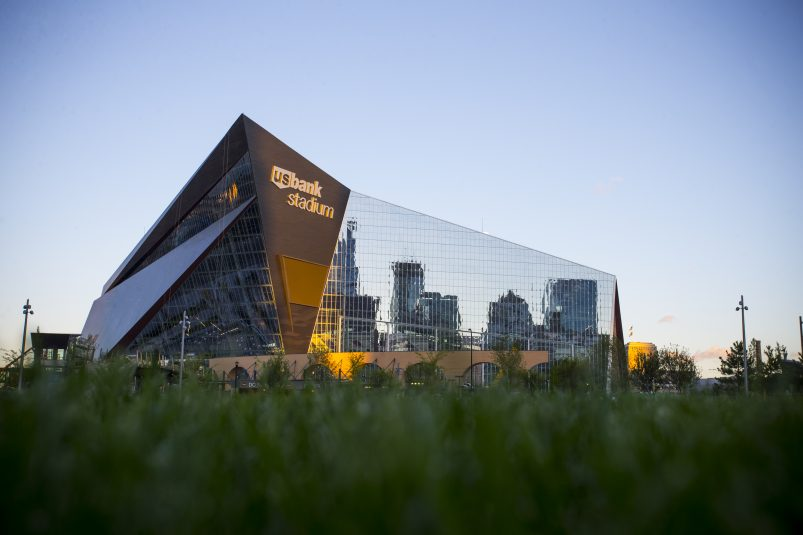 The Vikings will play their first game in their new home on Sunday.