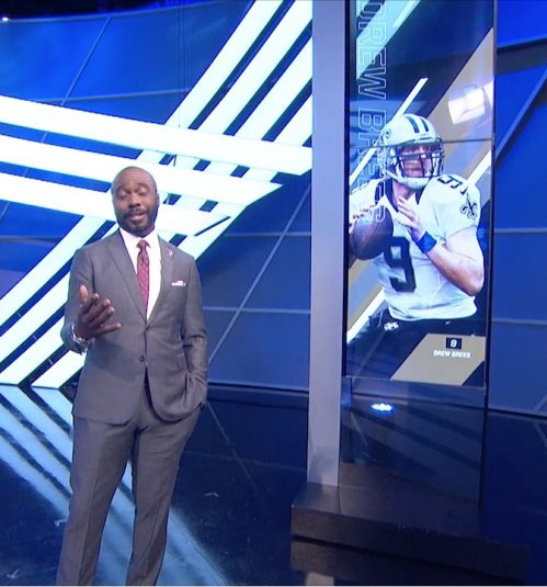 Marshall Faulk on the NFL GameDay set