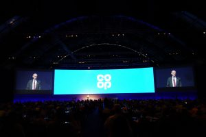 Christie projection at Co-op AGM