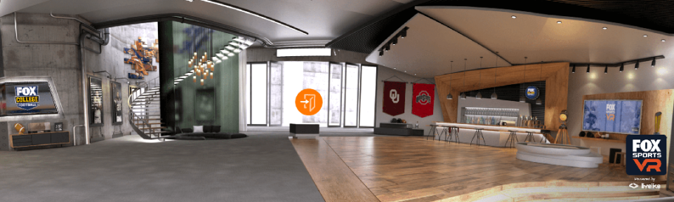 LiveLike has created a customized virtual suite as part of the Fox Sports VR experience for the Ohio State-Oklahoma game.