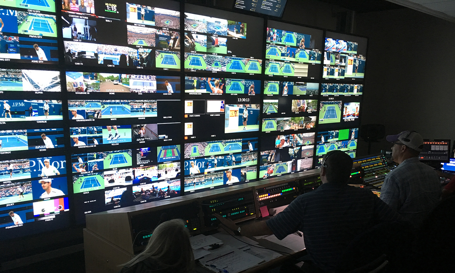 The ESPN Domestic control room