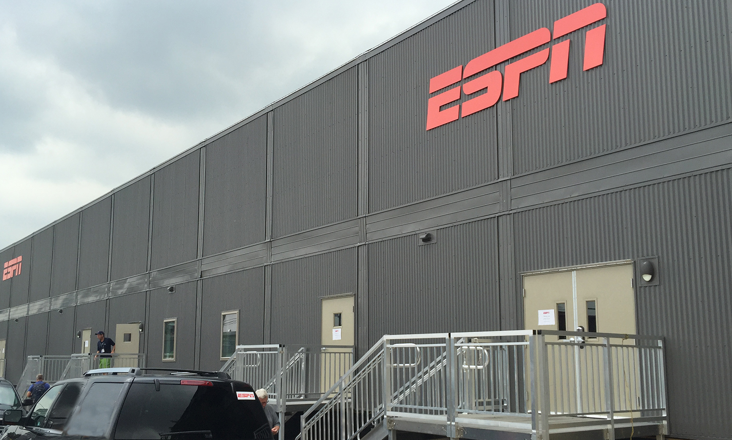 ESPN's two-story broadcast center at the National Tennis Center