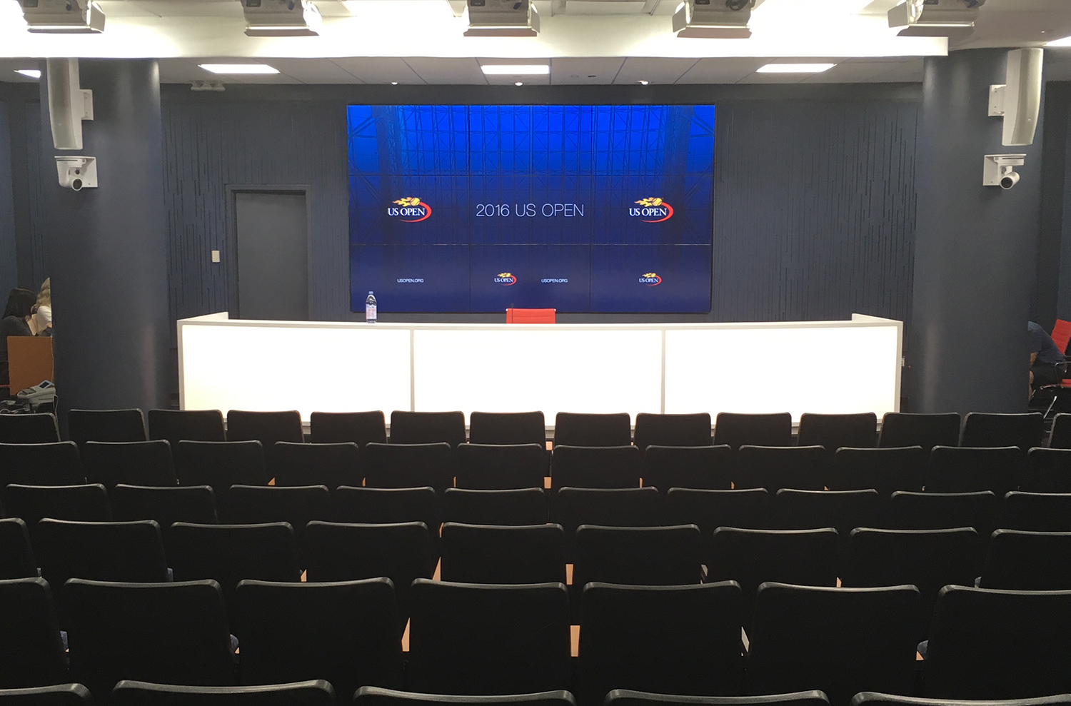 For the first time, ESPN is producing a live streaming press conference feed throughout the US Open.