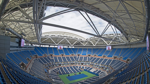 The new Arthur Ashe Stadium roof debuted this year at the US Open.