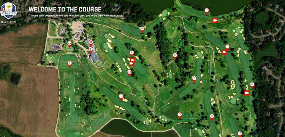 An interactive map gives users a complete overview of the course.