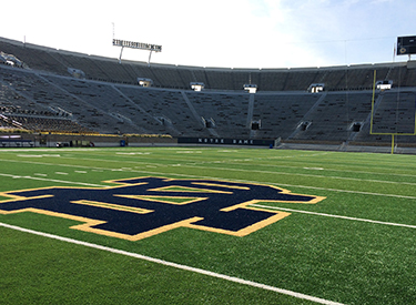 Notre Dame Stadium complex will have a media center supporting all facets of university media production.