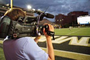 JVC cameras are used by Middle Tennessee State University's Athletic Communications to produce video scoreboard highlights during contests and provide coverage for the national media.