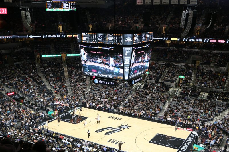 """""""Sports entertainment sound systems"""" like the one at the AT&T Center have helped give L-Acoustics a presence in the sports-venue market."""