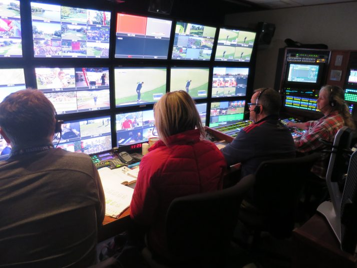 The Sky Sports team is working out of NEP's ND6 for the Ryder Cup.