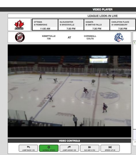 HockeyTV surrounds streamed and recorded video with box scores, access to rosters, and player information.