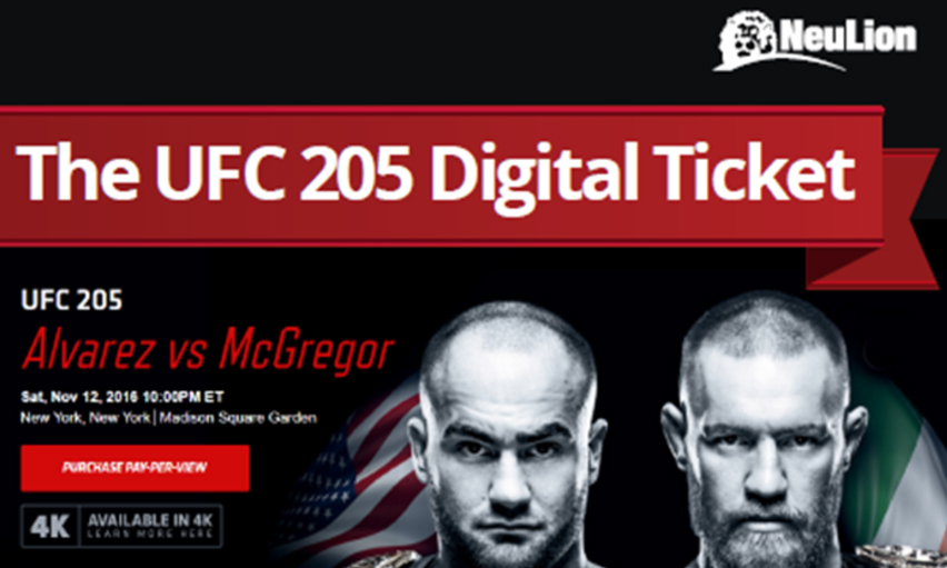 A $60 digital ticket enabled a user to live-stream the mixed–martial-arts event anywhere in the world.