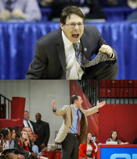 Seton Hall head coach Anthony Bozella (top) and St. John's coach Joe Tartamella will be mic'ed up for Friday's game.