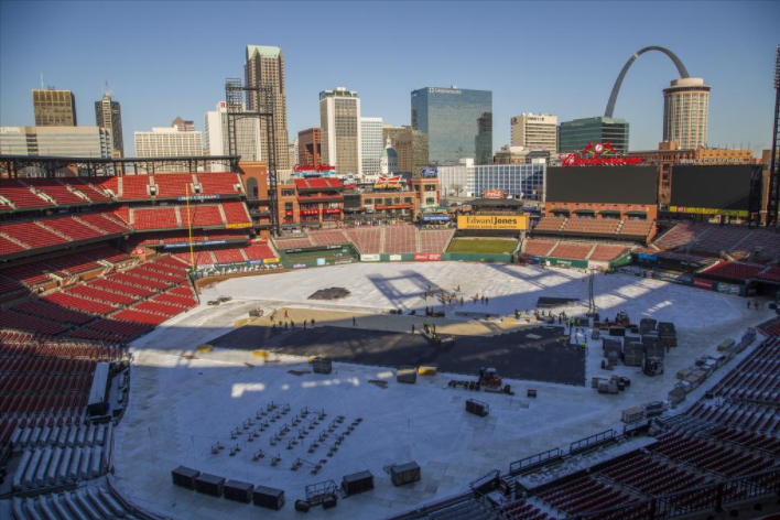 Busch Stadium will serve as the home of the ninth NHL Winter Classic on Jan. 2
