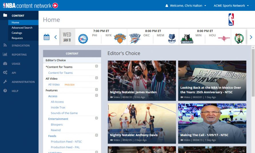 NBA Streamlines B2B Content Delivery With Cloud-Based NBA Content Network
