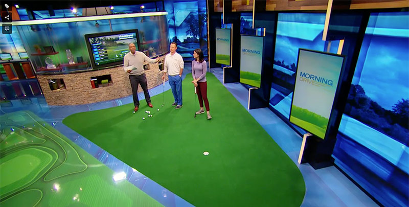 Golf Channel Tees Up Virtual Green Technology in Studio Shows