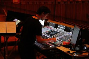 Front of House engineer Antony Shaw